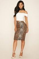 Forever 21 FOREVER 21+ Cheetah Print Skirt