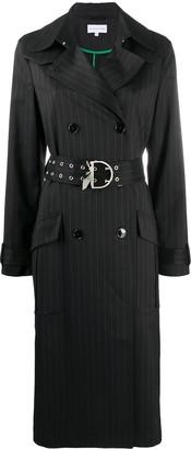 Patrizia Pepe Belted Pinstripe Coat