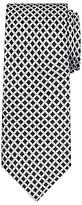 Daniel Hechter Shadow Diamond Woven Silk Tie, Black/white