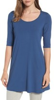 Eileen Fisher Women's Scoop Neck Elbow Sleeve Jersey Tunic