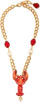 Dolce & Gabbana Lobster crystal-embellished necklace