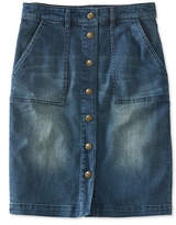 L.L. Bean Signature Denim Skirt