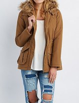 Charlotte Russe Faux Fur-Trim Hooded Anorak Jacket