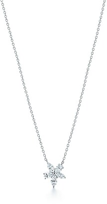 Tiffany & Co. Victoria mixed cluster pendant in platinum with diamonds, medium