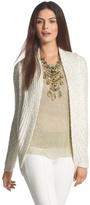 Chico's Sequin Shine Claytia Cocoon Cardigan