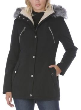 Nautica Faux-Fur Trim Hooded Anorak