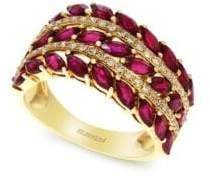 Effy Amoré Natural Ruby, Diamond and 14K Rose Gold Ring