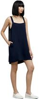 Kenneth Cole Buckle Strap Silk Dress