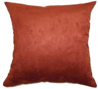 "The Pillow Collection Fabrizia Plain Pillow Rust, 24""x24"""