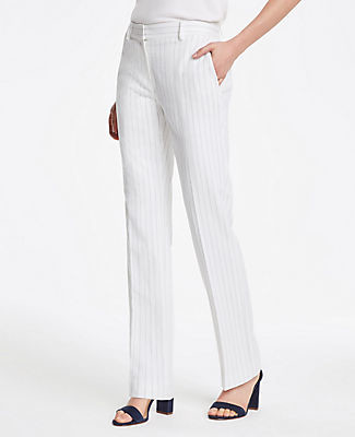 Ann Taylor The Straight Pant In Pinstripe - Curvy Fit