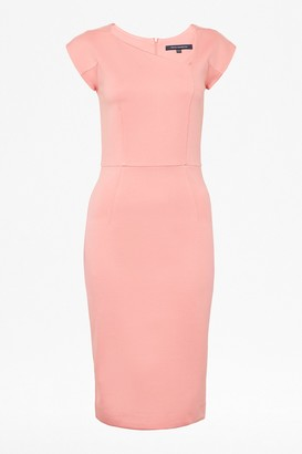 French Connection Lula Stretch Slash Neck Bodycon Dress