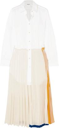 Sonia Rykiel Layered Cotton-poplin And Jersey Maxi Dress
