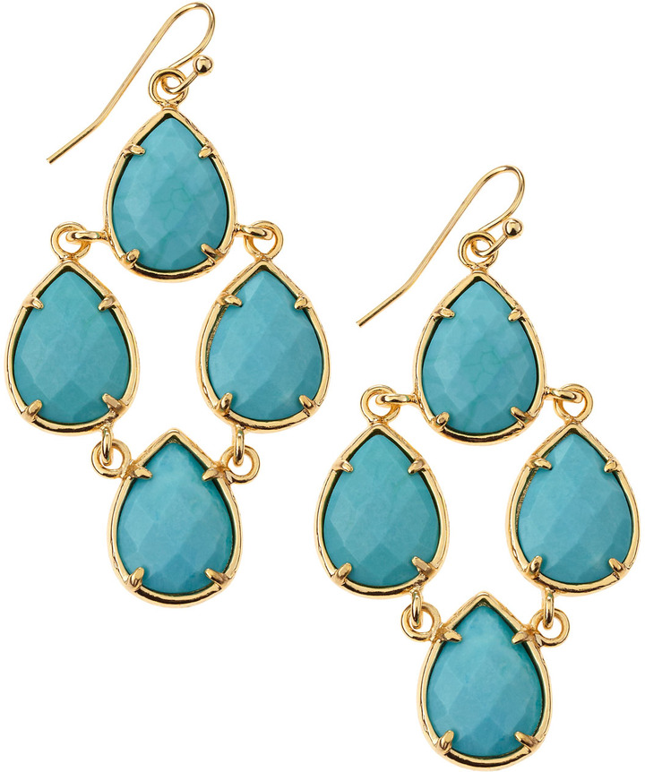 Kendra Scott Caroline Turquoise Earrings