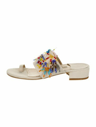 Rosie Assoulin Beaded Accents Sandals