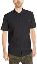 O'Neill Men's Emporium Solid Short Sleeve Woven Shirt