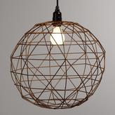 Cost Plus World Market Bronze Round Twisted Wire Pendant Shade