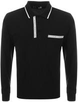 Love Moschino Long Sleeve Polo T Shirt Black