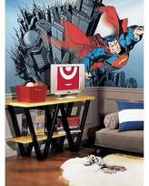 Superman RoomMates Chair Rail Prepasted Mural 6' x 10.5' - Ultra-strippable