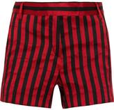 Ann Demeulemeester Striped Satin-twill Shorts - Claret