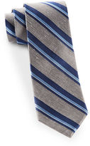 The Tie Bar Social Stripe Silk and Linen Tie
