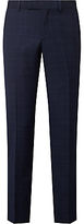 John Lewis Wool Check Tailored Fit Suit Trousers, Navy