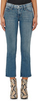 L'Agence Women's Serena Mid-Rise Flared Crop Jeans-BLUE