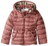 Burberry Kids - Mini Janie Checked Hood Jacket Girl's Coat
