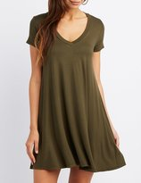 Charlotte Russe V-Neck Swing Dress