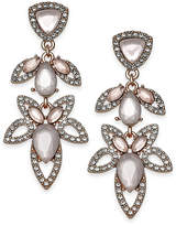 INC International Concepts I.N.C. Rose Gold-Tone Pavé & Pink Stone Openwork Drop Earrings, Created for Macy's