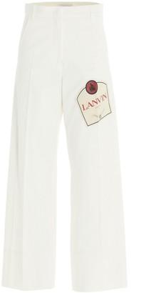 Lanvin Logo Patch Jeans