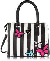Betsey Johnson Be Mine Multi Compartment Tote Shoulder Bag - 3D Butterfly