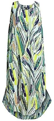 NIC+ZOE, Plus Size Palm Print Midi Dress