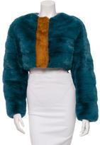 Roksanda Ilincic Mink Cropped Jacket