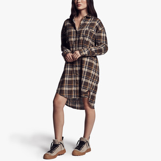 James Perse Military Plaid Shirt Dress