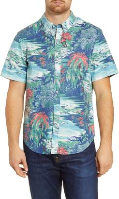 Reyn Spooner Waterfall Valley Regular Fit Short Sleeve Button-Down Shirt
