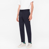 Paul Smith Men's Standard-Fit Navy Cotton-Linen Chinos
