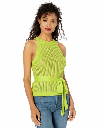 J.o.a. Women's Sleeveless Halter Cami Knit Top