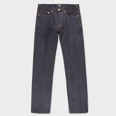 Paul Smith Men's Standard-Fit Indigo Italian-Selvedge Raw Denim Jeans