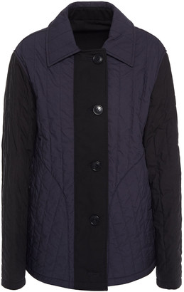 Burberry Two-tone Paneled Quilted Cotton Jacket