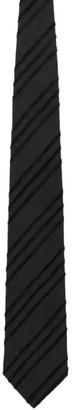 Comme des Garçons Homme Deux Black Silk Pattern Tie