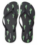 Forever 21 FOREVER 21+ Cactus Print Flip Flops