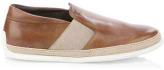 Tod's Leather Espadrille Slip-On Shoes