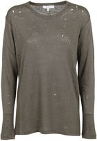IRO Stone Grey marvina Linen Crewneck