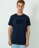 A Question Of Seoul Man Crew Neck T-Shirt Navy Blue
