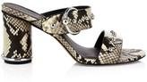 Rebecca Minkoff Amalthea Too Studded Snakeskin-Embossed Leather Mules