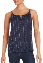 Saks Fifth Avenue Sequin Embellished Cotton Top