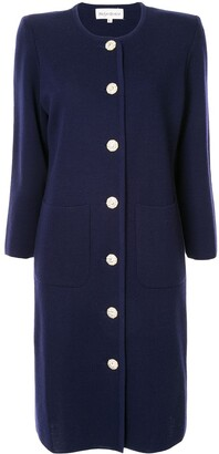 Yves Saint Laurent Pre Owned Collarless Midi Coat