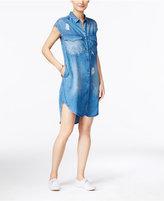 Calvin Klein Jeans Distressed Denim Shirtdress