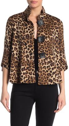 Joseph Ribkoff Leopard Print Swing Jacket