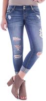 Amethyst Jeans Blue Denim Distressed Embellished-Pocket Poppy Jeans - Plus